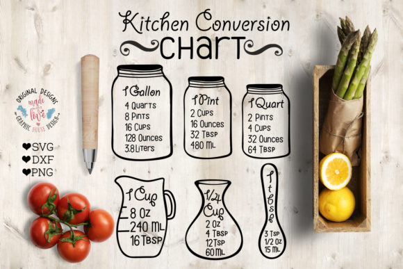Print on Demand: Kitchen Measurements Graphics Graphic Illustrations By GraphicHouseDesign