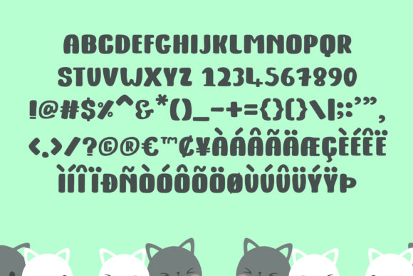Kitty Fat Font By Dasagani Image 4