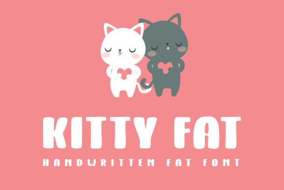 Print on Demand: Kitty Fat Script & Handwritten Font By Dasagani - Image 1
