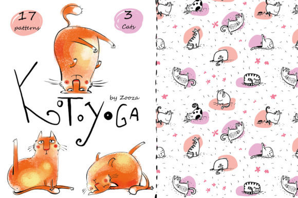 Print on Demand: KotoYoga - Patterns, Prints Graphic Illustrations By Zooza Art