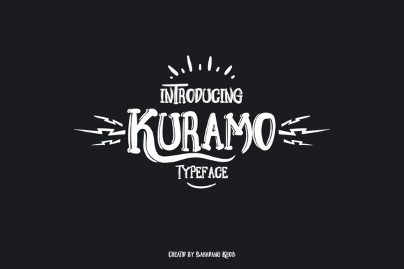 Print on Demand: Kuramo Display Font By Terminal Kota