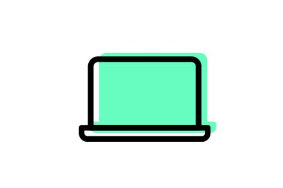 Download Free Laptop Icon Grafico Por Arus Creative Fabrica for Cricut Explore, Silhouette and other cutting machines.