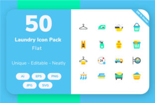 Laundry - Flat Graphic By Icon Stale