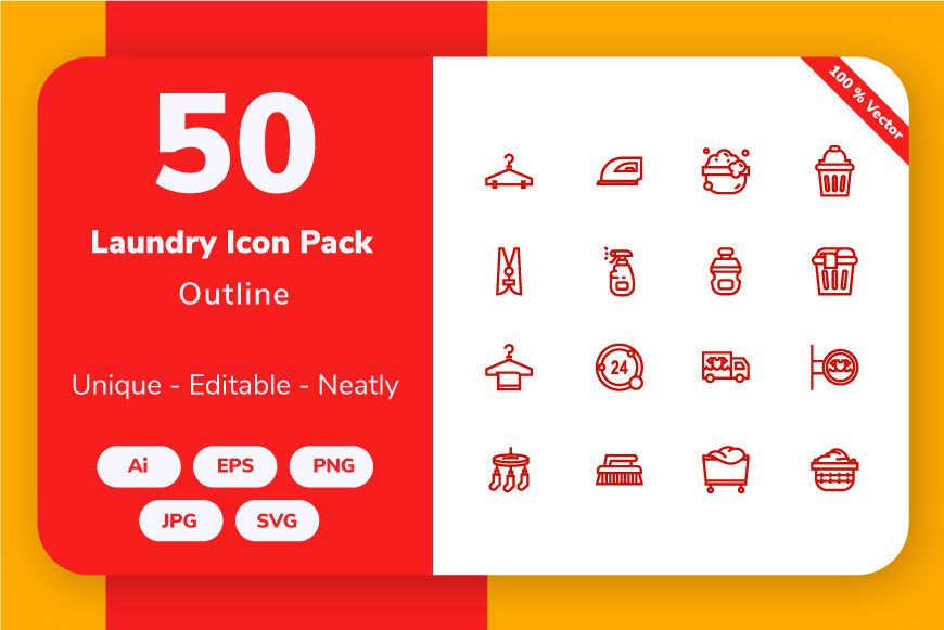 Laundry Outline Graphic By Icon Stale Creative Fabrica