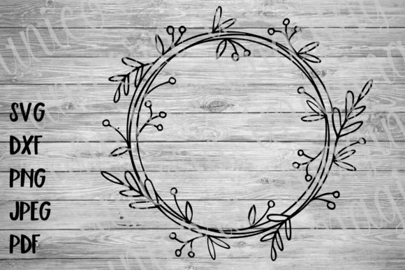 Download Free Laurel Monogram Wreath Frame Graphic By Unicorn Imaging for Cricut Explore, Silhouette and other cutting machines.