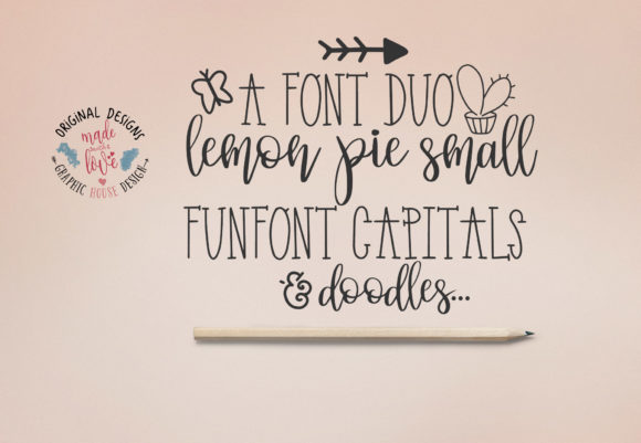 Print on Demand: Lemon Pie Funfont Duo Script & Handwritten Font By GraphicHouseDesign - Image 3