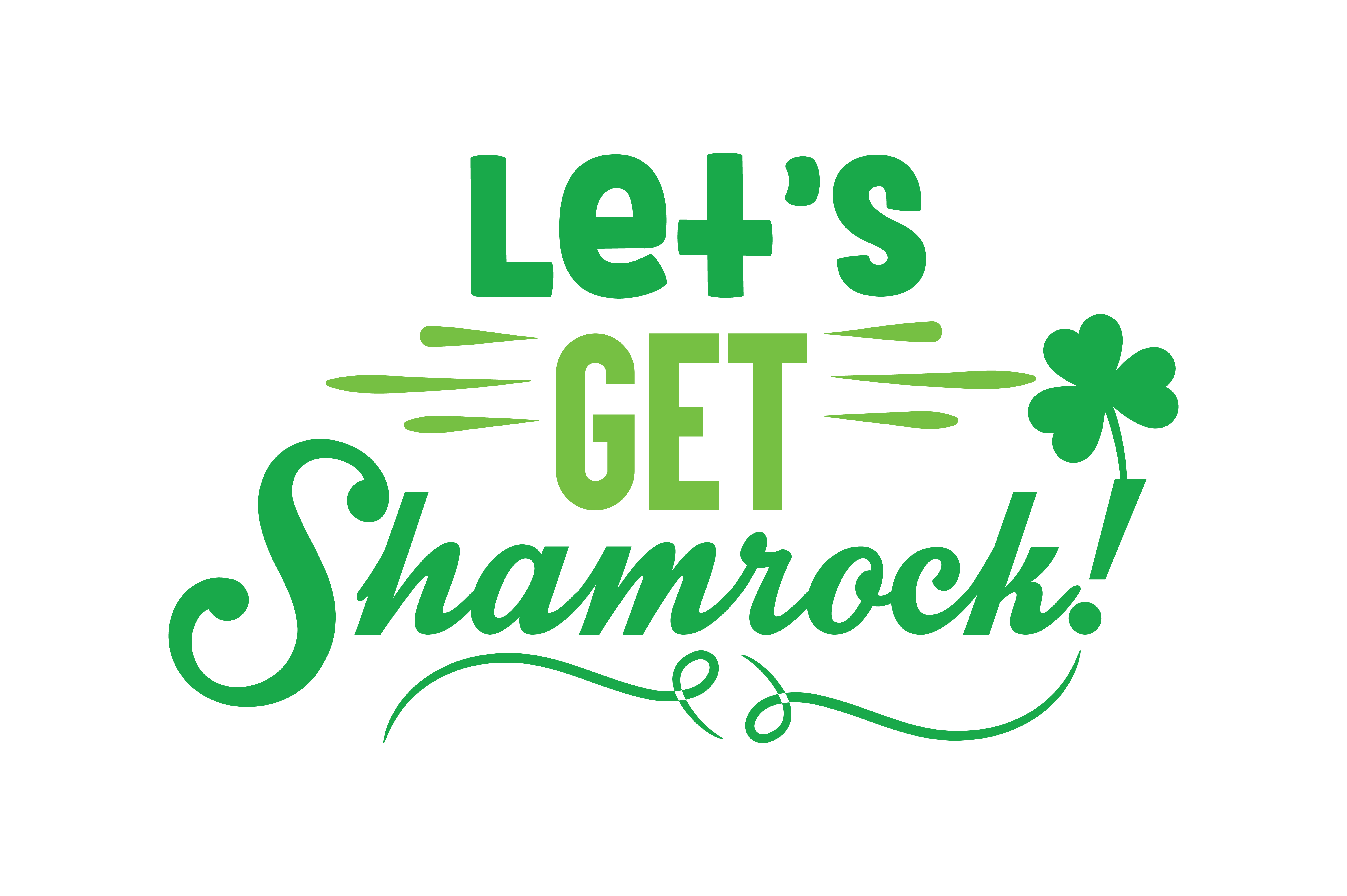 Download Free Let S Get Shamrock Quote Svg Cut Graphic By Thelucky Creative for Cricut Explore, Silhouette and other cutting machines.