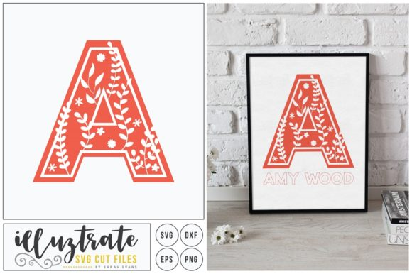 Print on Demand: Letter a SVG Alphabet Graphic Crafts By illuztrate