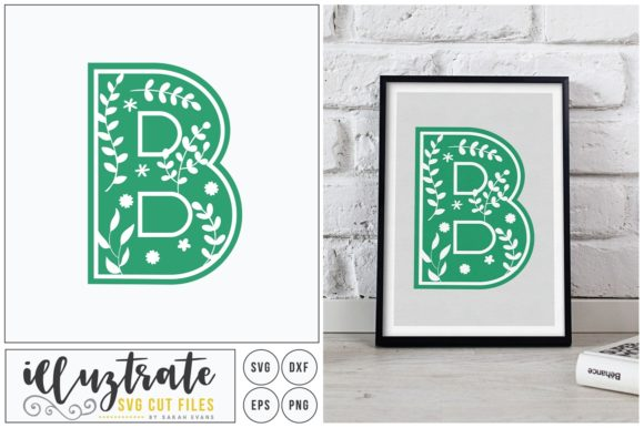Print on Demand: Letter B SVG Alphabet Graphic Crafts By illuztrate