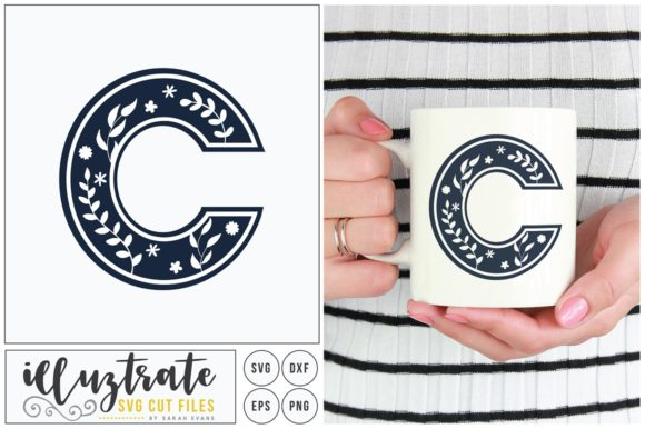 Print on Demand: Letter C SVG Alphabet Graphic Crafts By illuztrate - Image 1