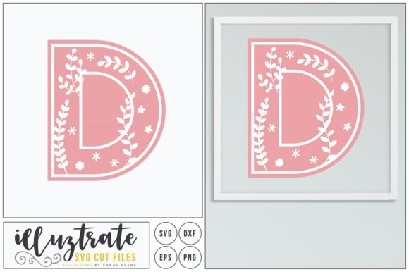 Print on Demand: Letter D SVG Alphabet Graphic Crafts By illuztrate