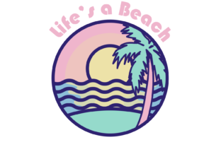 Life's a Beach Graphic By Mine Eyes Design