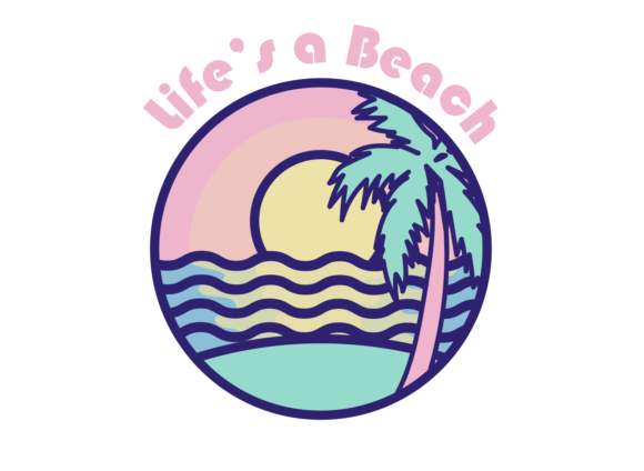 Print on Demand: Life's a Beach Graphic Illustrations By Mine Eyes Design - Image 1