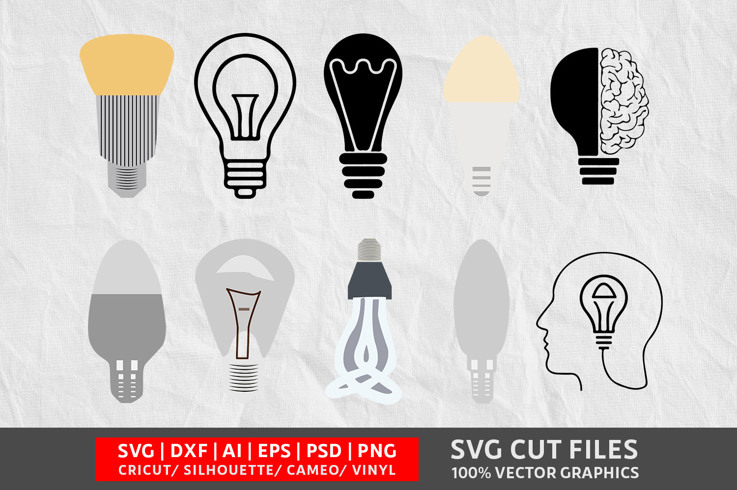 Download Free Light Bulb Graphic By Design Palace Creative Fabrica for Cricut Explore, Silhouette and other cutting machines.