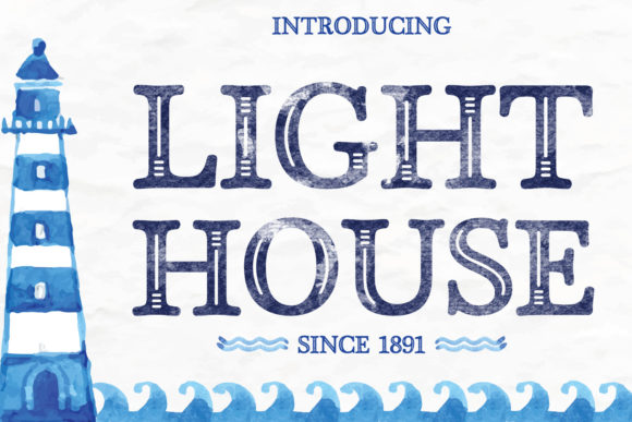 Print on Demand: Light House Display Font By creativespace