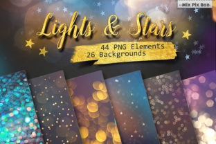 Lights and Stars Clipart + Backgrounds Graphic By MixPixBox