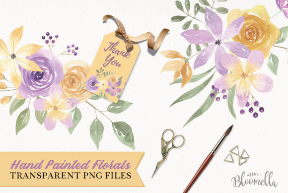 Download Free Lilac Lemon Flower Bouquets Graphic By Bloomella Creative for Cricut Explore, Silhouette and other cutting machines.