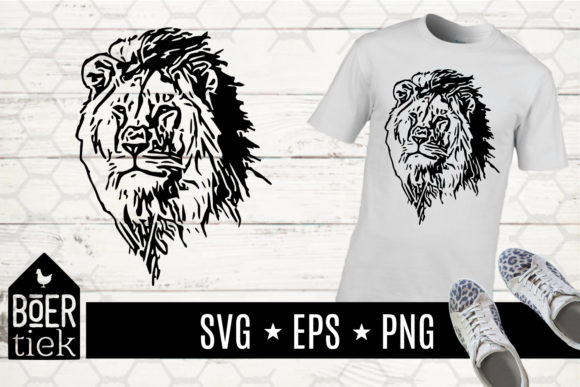 Lion Graphic Crafts By Boertiek