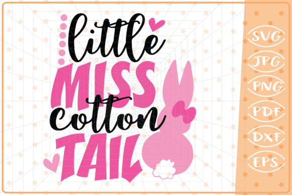 Little Miss Cotton Tail Graphic Crafts By Cute Graphic