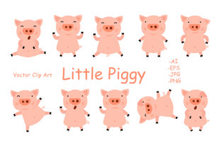 Little Piggy Graphic By InkandBrush
