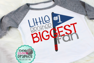 Download Free Little Brother Biggest Fan Svg Graphic By Onestonegraphics for Cricut Explore, Silhouette and other cutting machines.