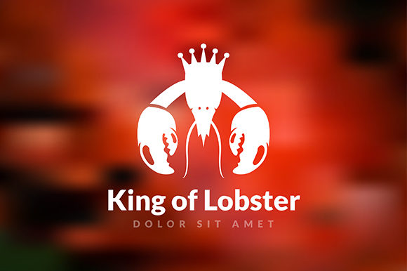 Logo King of Lobster Restaurant Graphic Logos By indostudio