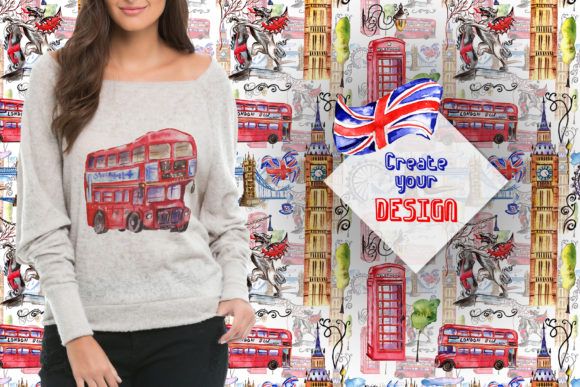 Print on Demand: London Watercolor Png Graphic Illustrations By MyStocks - Image 2