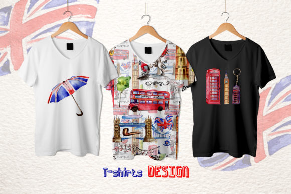 Print on Demand: London Watercolor Png Graphic Illustrations By MyStocks - Image 3