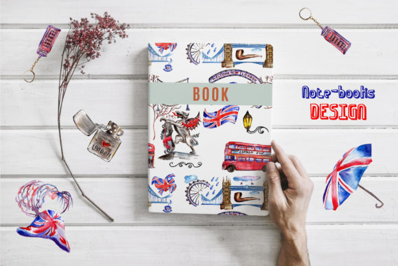 Print on Demand: London Watercolor Png Graphic Illustrations By MyStocks - Image 4