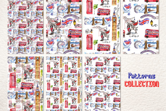 Print on Demand: London Watercolor Png Graphic Illustrations By MyStocks - Image 5