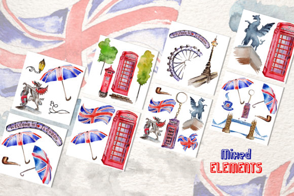 Print on Demand: London Watercolor Png Graphic Illustrations By MyStocks - Image 8