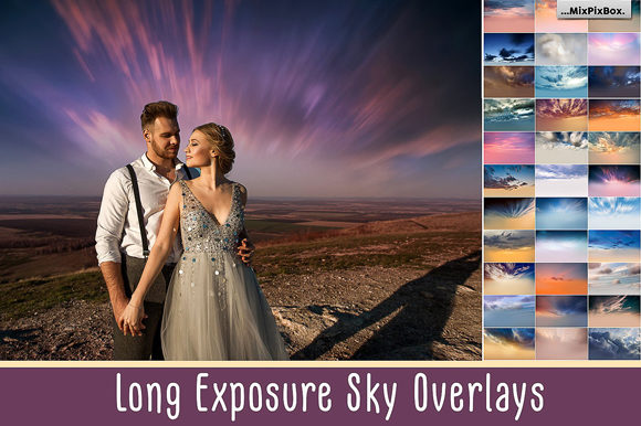 Print on Demand: Long Exposure Sky Overlays Graphic Layer Styles By MixPixBox