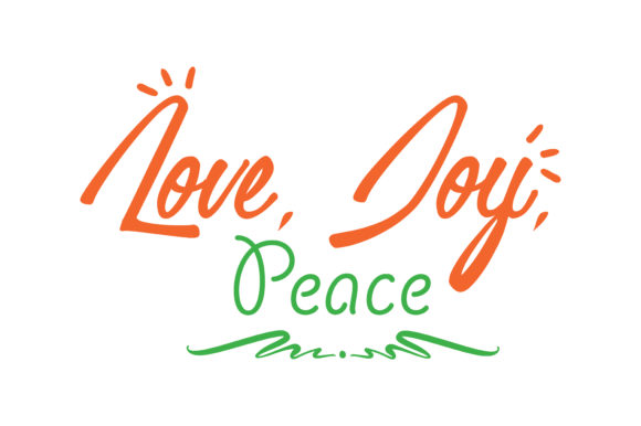 Download Free Love Joy Peace Quote Svg Cut Graphic By Thelucky Creative Fabrica for Cricut Explore, Silhouette and other cutting machines.