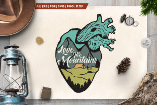 Love the Mountains Logo Graphic By LovePowerDesigns