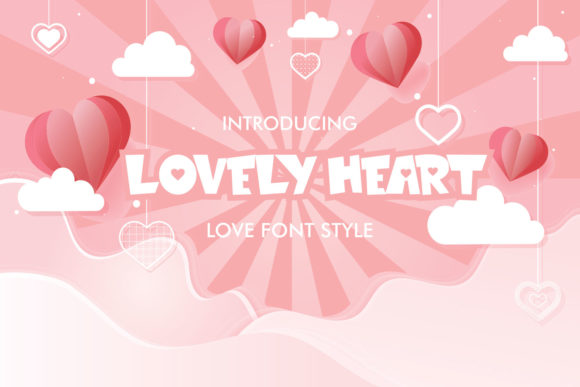 Print on Demand: Lovely Heart Display Font By fachranheit