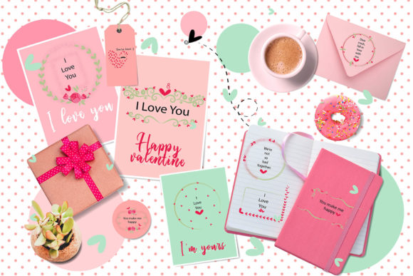 Download Free Lovely Pink Valentine Doodle Frames Grafico Por 3motional for Cricut Explore, Silhouette and other cutting machines.