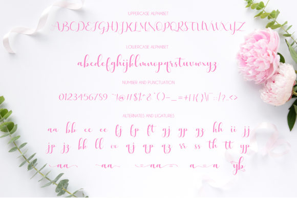 Print on Demand: Lovely Valentine Script & Handwritten Font By Uloel Design - Image 6
