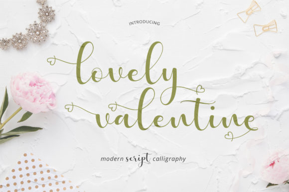 Print on Demand: Lovely Valentine Script & Handwritten Font By Uloel Design
