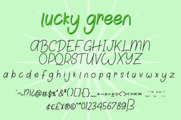 Print on Demand: Lucky Green Duo Script & Handwritten Font By attypestudio - Image 6