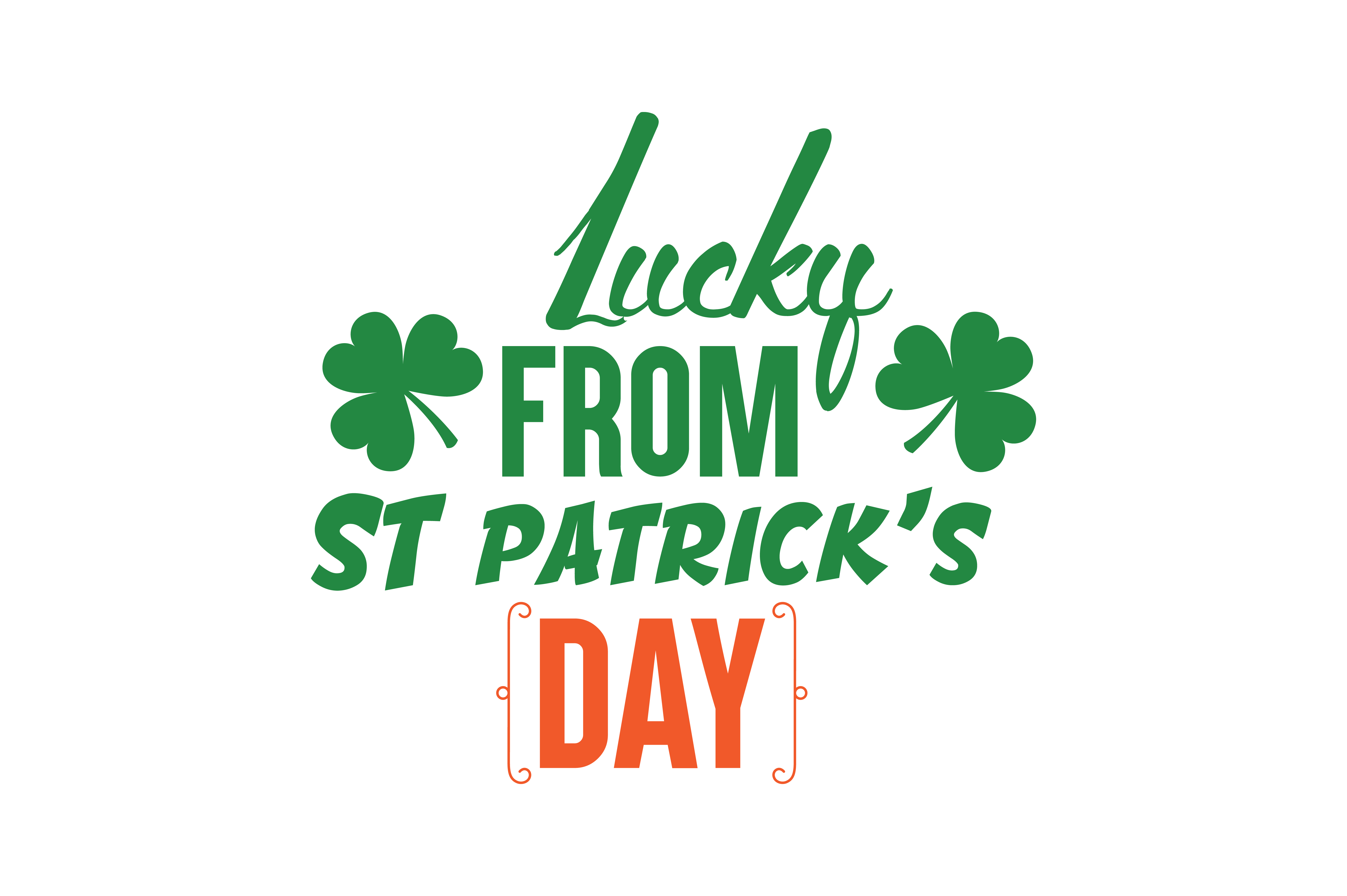 Download Free Lucky From St Patrick S Day Quote Svg Cut Graphic By Thelucky SVG Cut Files