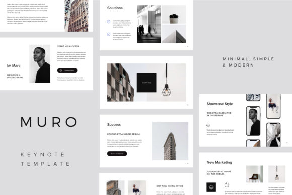 Print on Demand: MURO - Keynote Presentation Template + Big Bonus Graphic Presentation Templates By pixasquare