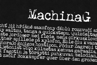 Machina G Font By grin3