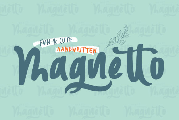 Print on Demand: Magnetto Script & Handwritten Font By Home Crafter Design.co - Image 1