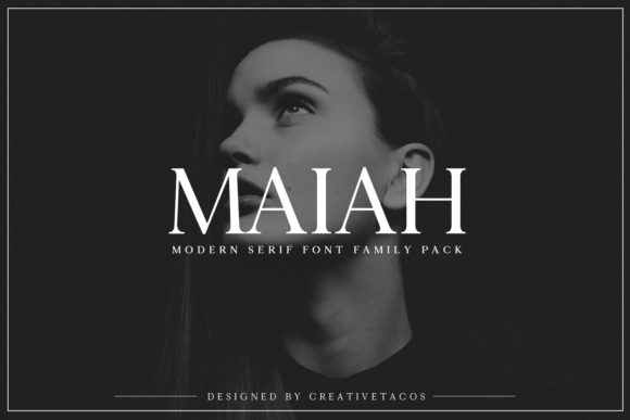 Print on Demand: Maiah Family Serif Font By Creative Tacos