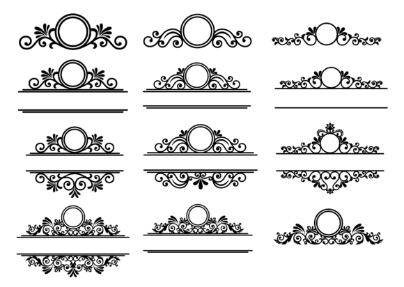 Download Free Filigree Cross Svg Cross Monogram Frames Graphic By Yulnniya SVG Cut Files