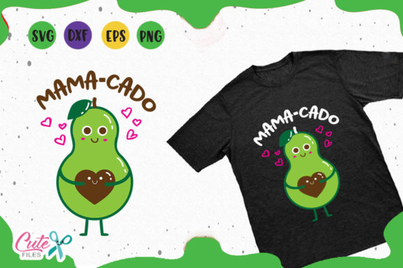 Download Free Mama Cado A Mexican Food Svg Graphic By Cute Files Creative for Cricut Explore, Silhouette and other cutting machines.