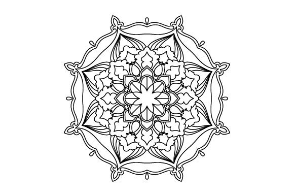 Print on Demand: Mandala Coloring Page Graphic Coloring Pages & Books Adults By GraphicsFarm