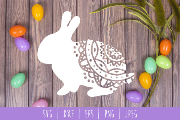 Download Free Mandala Easter Bunny Svg Grafik Von Savoringsurprises Creative for Cricut Explore, Silhouette and other cutting machines.