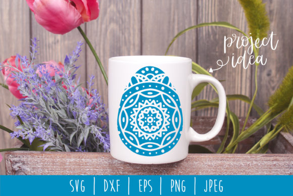 Download Free Mandala Easter Egg Graphic By Savoringsurprises Creative Fabrica for Cricut Explore, Silhouette and other cutting machines.