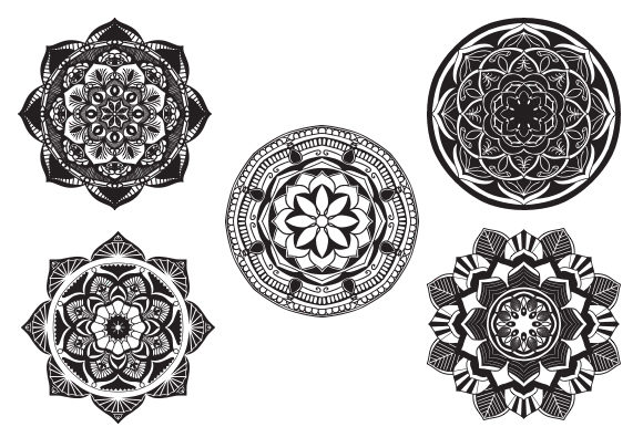 Download Free Mandala Vector Art Pattern Bundle Graphic By Redsugardesign for Cricut Explore, Silhouette and other cutting machines.